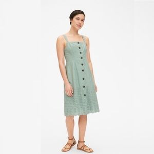 Gap Eyelet Embroidered Apron Dress